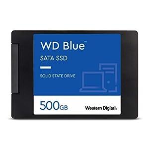 """Western Digital 500GB WD Blue 3D NAND Internal PC SSD - SATA III 6 Gb/s, 2.5""""/7mm, Up to 560 MB/s - WDS500G2B0A"""