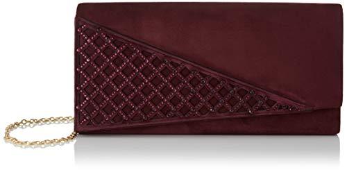 Eferri Agata, Bolso de Mano para Mujer, Color-Burdeos, 27x13x5 cm