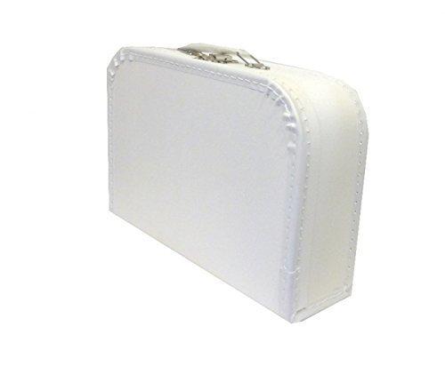 martoli Kinderkoffer weiß 30cm Pappkoffer mit Trim