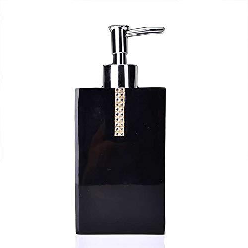 Seifenspender mit Edelstahlpumpe 550ml Nachfüllbare Handwaschseife Barock für Badezimmer Küche-black