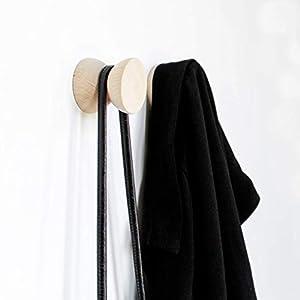 Geometrische Buchenholz Kleiderhaken/Knopf