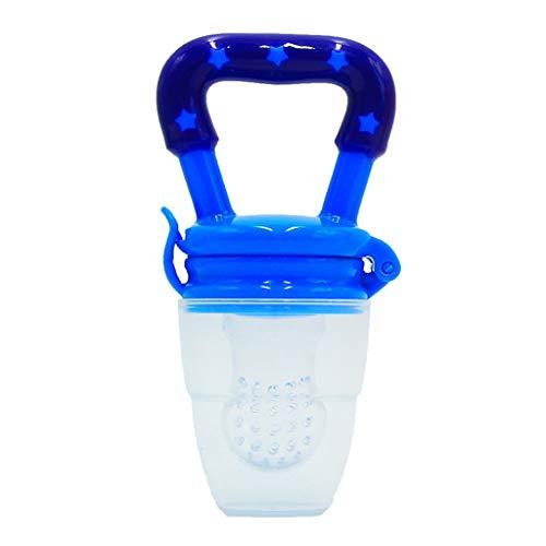 Baby Fruchtsauger Schnuller,Carolui Frischkost Obst und Gemüse Feeder Baby Beißring Zahnen Schnuller (Blau, 23 x 40mm)