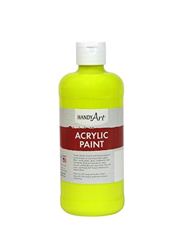Handy Art Student Acrylic Paint 16 ounce, Fluorescent Yellow