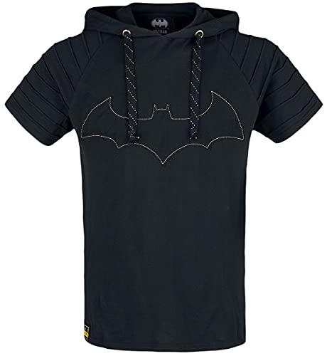 Batman Logo Hombre Camiseta Negro M, 100% algodón, Patches Regular