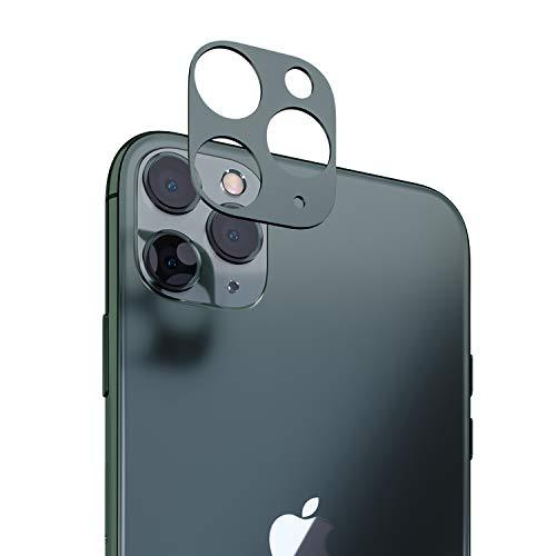 innoGadgets Kameraschutz kompatibel mit iPhone 11 Pro / 11 Pro Max   Passgenauer Kamera Schutz gegen Stöße und Kratzer   staubfrei installieren mit Reinigungs-Set   Aluminiumrahmen in Nachtgrün