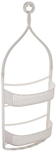 Amazon Basics - Estante de ducha con brazos ajustables, Blanco
