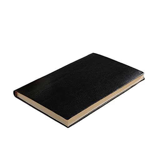 ZNZNN A5 Regnado Diario Forrado Cuaderno Premium Thick Papel Business Office Work Trabajo DACIONADO Estudiante Cuaderno Pluma 96 Hojas / 192 páginas Regalo Cuaderno Multifuncional (Color : Black)