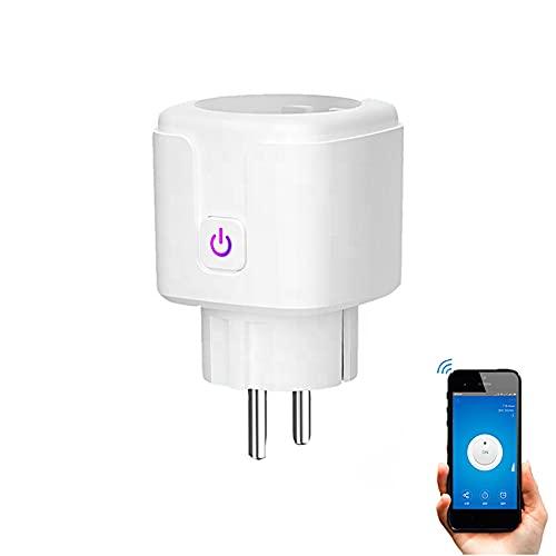 Smartfy Enchufe Inteligente WiFi Control Consumo Medidor Consumo Monitor Energía compatible con Alexa, Google Home, Smart Life, Tuya, sin Hub, 16A