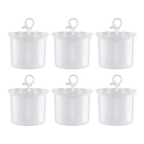 bubussv (12 Stück) Weiß Tragbarer Schaum Hersteller Dusche Bad Shampoo-Schaum-Maschine Travel Haushalt Cup Blase Schäumer Blase Schäumer Gerät reinigen Werkzeug
