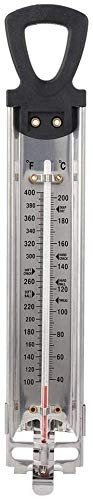AOSNTEK Süßigkeitenthermometer Frittier-/Marmeladen-/Zucker-/Sirup-/Gelee-Thermometer Fahrenheit Celsius?/? Doppelskalierung Display Haushalt Küche Hängend