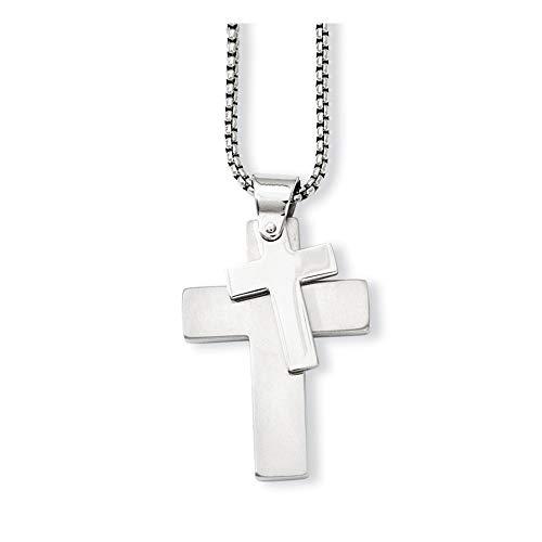 14 Carats Pendentif Grande Croix Christ JewelryWeb