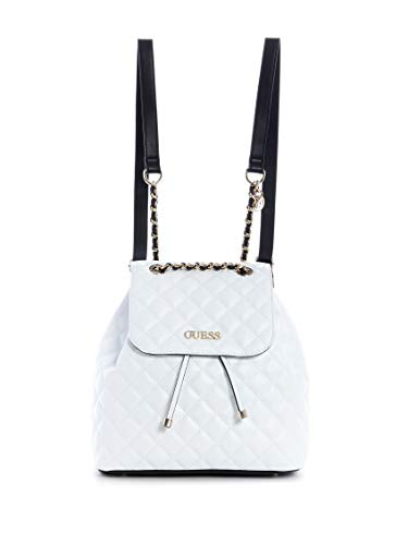 Guess Illy Zaino in Ecopelle Trapuntata Bianca Donna 29x26x14,5 cm