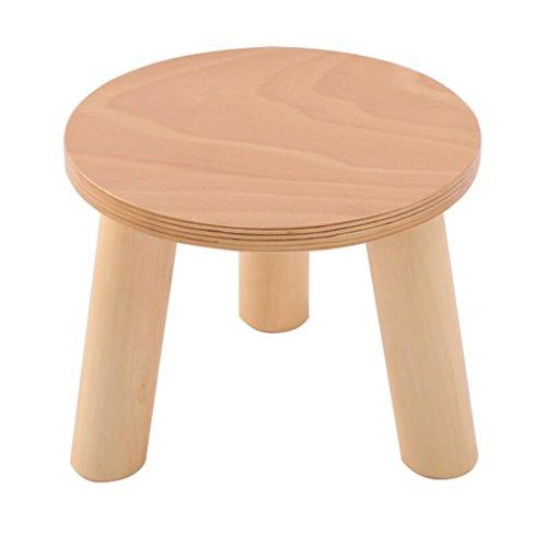 Xuan - Worth Having Holz Farbe dreibeinigen Hocker Runde Schuh Schuhe Haushalt Massivholz (28 * 28 * 25 cm)