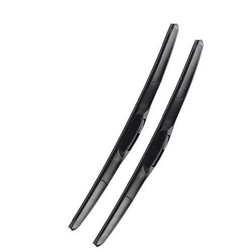 NIUASH Accesorios de Coche escobillas de limpiaparabrisas Delanteras, aptas para Audi A4...