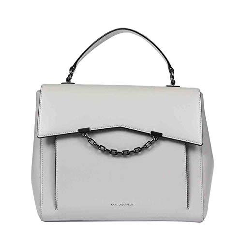 KARL LAGERFELD Luxury Fashion Donna 201W3048GREY Grigio Pelle Borsa A Mano | Primavera-estate 20