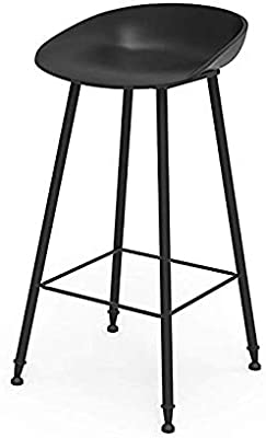CYHWDHW Bar Stool, Iron Simple bar Chair, PP Matte Plastic Chair and Metal Bracket Breakfast Counter Height,2,45cm