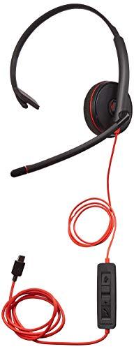 Plantronics Blackwire c3210ヘッドセット–Mono–ブラック–USBタイプC–有線–20Hz–20kHz両片耳...
