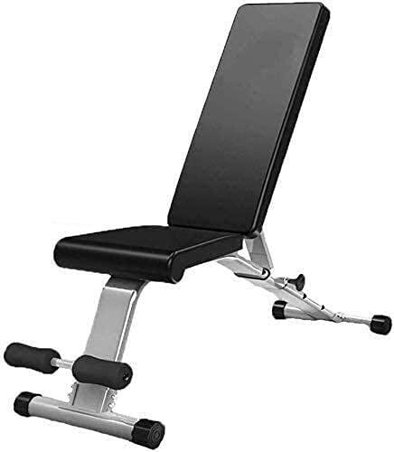 MUZIDP Banco de pesas para ejercicio y ejercicio con mancuernas ajustable, banco de pesas para entrenamiento de cuerpo completo, multiuso, plegable, inclinación/banco (color negro)