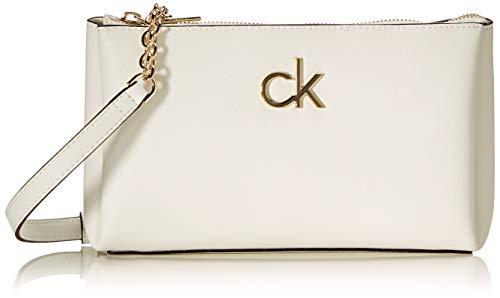 Calvin Klein Double Zip, Cremallera doble XBODY para Mujer, White, 28 Inches, Extra-Large