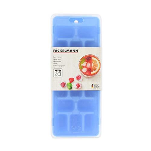 Fackelmann Eiswürfelformer, Eiswürfelbox mit Deckel aus Kunststoff, robuster Eiswürfelbehälter (Farbe: Blau, Grün, Lila - nicht frei wählbar), Menge: 1 Stück