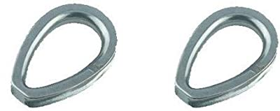 "2 Pieces Stainless Steel 316 5/16"" (8mm) Wire Rope Thimble Casting with Closed End Marine Grade for Rope Size 5/16"""