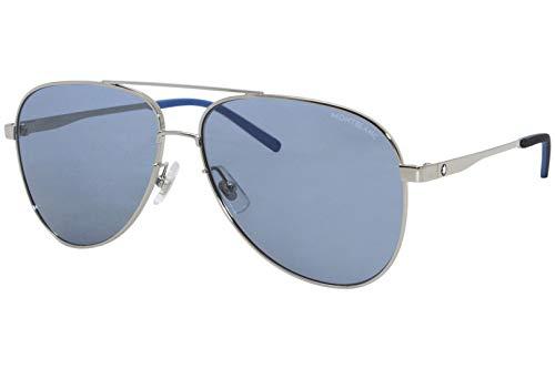 Montblanc gafas de sol MB0103S 003 azul de Plata del tamaño de 59 mm de Hombre
