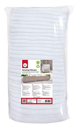 Rayher 30220000 Recycling Füllwatte in Lagen, weiß, Beutel 500 g, 100{e4efe23a8e329df9e6f42fa081cc4c21e9d4fc523688898a34f51df42dccad91} Polyester, waschbar, allergieneutral, vegane Füllwatte