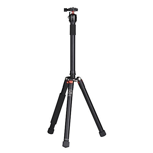 "Marsace 63.38"" A15I Compact Aluminum Tripod, Lightweight Travel Tripod Kit with 360Degree Panorama Ball Head and 1/4""Quick Release Plate for Travel and Work,Load Capacity 13.23lbs"
