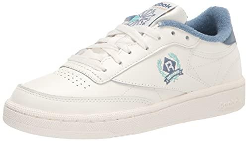 Reebok Women's Club C Sneaker, Chalk/Blue Slate, 10