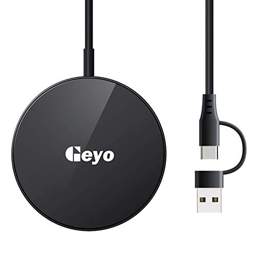 Geyo Magnetic iPhone 12 Wireless Charger,Fast Wireless Charging Pad Built...
