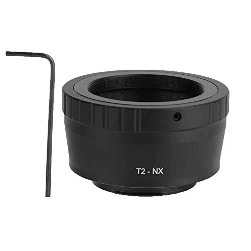 Bewinner Convertitore di Lenti, Obiettivo telescopico T2-NX per Anello Adattatore per Fotocamera Samsung Mirroless NX M42X0,75, Facile da installare e Rimuovere, Montaggio Diretto
