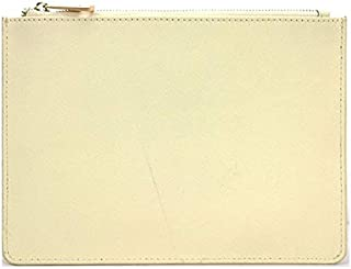 iBag's Monogrammed Ladies Customized Initial Letters Genuine Saffiano Leather Pouch Women Clutch Bag With Card Slots