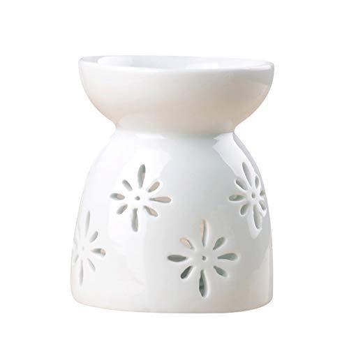 Surakey Forno per Aromaterapia Ceramic,Lampada Profumata Ceramica Scent Burner Ceramica Floral Bruciatore di Incenso Diffusore Candelieri Diffusore a Candela
