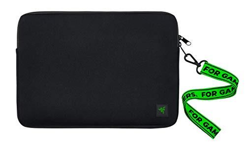 Razer Neoprene Sleeve V2 – Schutzhülle für Notebooks & Laptops bis zu 13,3 Zoll (33,8 cm): Außen robust, perfekt für Blade Stealth 13, wasserdicht, ultra dünn, flach - Schwarz