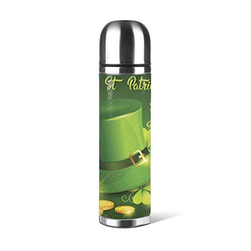 Gelukkige Patricks Dag Festival Bier Vakantie Geïsoleerde RVS Water Fles Dubbele Muur Water Fles 17oz Trel Thermische Flask