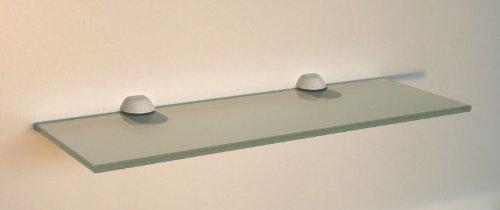 Regale4You Set: Glasregal: 40x30 cm KlarGlas 10 mm mit Clip XL Edelstahl-Finish/Cliphalterung