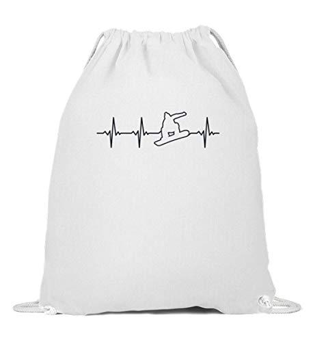 Bolsa de deporte para tabla de snowboard, diseño retro con latido de corazón, Mujer, 0, Blanco, 37cm-46cm