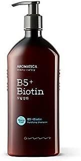 AROMATICA B5+Biotin Fortifying Shampoo 13.53oz / 400ml, Silicone Free, Sulfate Free, Vegan, EWG VERIFIED