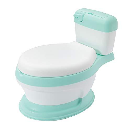 Töpfchen Training & Übergang Töpfchen, Kindertoilette Toilette Urinal Potty Trainingssitz 3 in 1 Kinder Kleinkind Kultivieren Autonome Toilette 1-6 Jahre Alt,Grün