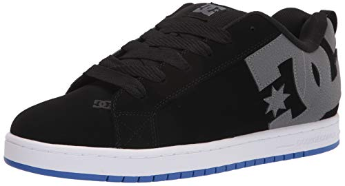 DC Shoes Court Graffik - Zapatillas de Skate para Hombre, (Cygne Gris et Bleu), 42 EU