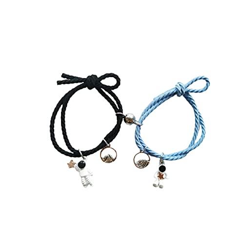 C-LARSS Bracelet Wear-resistant Cord Jewelry Bracelet Bright-colored Exquisite Black Blue