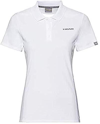 HEAD Damen Club Tech Polo Shirt W Polos, White, L