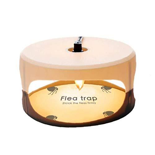 ZYCX123 Trampa de pulgas Asesino de la Mosca de la lámpara Redonda Instalación Sencilla Pegamento Discos Mejor Control de plagas para el hogar Herramientas de jardín