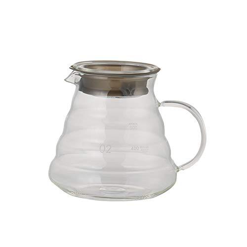 YCX Kaffeekanne Aus Glas, Kaffeebereiter Pour Over 800Ml,Hitzebeständiges Handgemachtes Haushaltskaffeekannenset,Clear