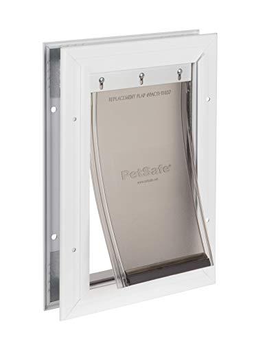PetSafe Freedom Porta de alumínio para cães e gatos – Moldura durável – Animais de estimação pequenos, PPA00-10859, branca