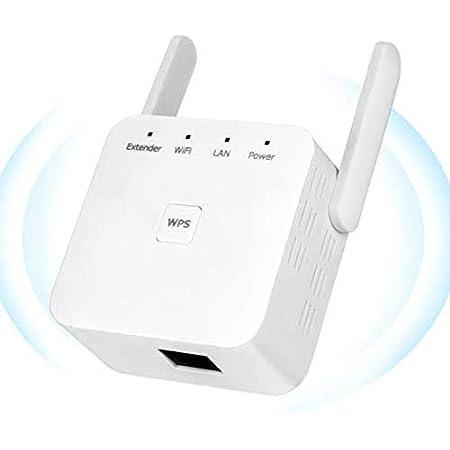 YUIN Amplificador Señal WiFi - 300Mbps Repetidor WiFi,Amplificador WiFi 2.4GHz,Extensor de WiFi,con Ethernet WAN/LAN, WPS, Admite Modo ...