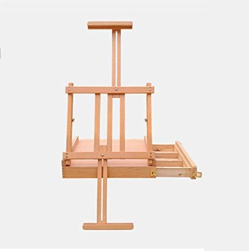 VIUNCE Madera de Haya Mesa de Caballete/elevación de Caballete/portátil Plegable de Escritorio Soporte Acuarela de los niños 42 * 36 * 12cm Caballete de los niños (Size : 31-85cm)