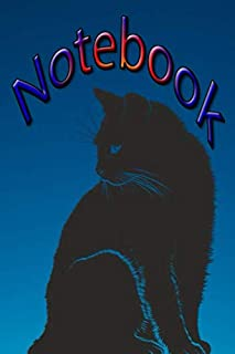 Black Cat: Notebook blank lined 120 pages composition Journal