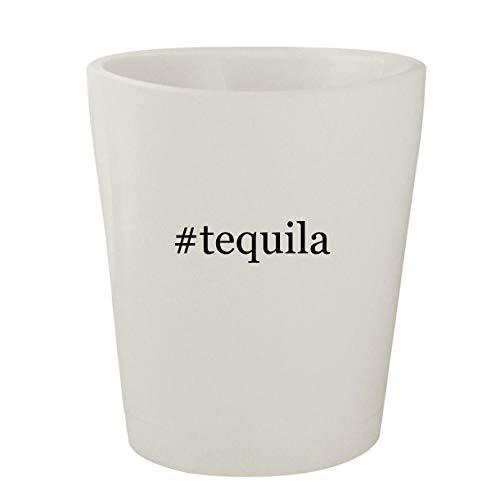 #tequila - White Hashtag Ceramic 1.5oz Shot Glass