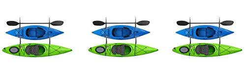 RAD Sportz Kayak Wall Hangers 100 LB Capacity Kayak Storage for Garage or Shed (Pack of 3)